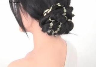 Peinados Recogido romantico