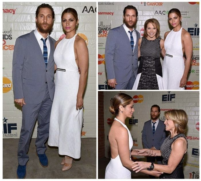 So, it's dramatic to seeing Camila Alves exuded her adorable art into the Hollywood Stands Up To Cancer event at Los Angeles on Wednesday, January 28, 2015.  Matthew McConaughey wife looked absolutely simply in a daring white dress as she made sure she showed off the full extent of the stunning design, including the backless zone at the back.