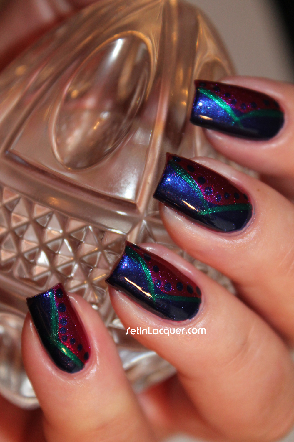 Abstract Nail Art Using Zoya Set In Lacquer