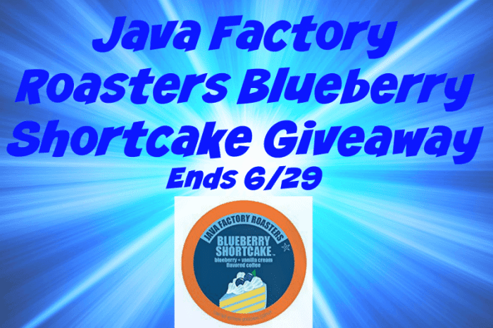 Java Factory Roasters Blueberry Shortcake