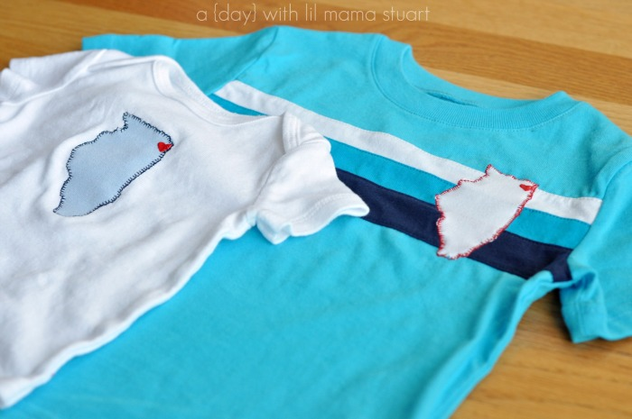 How to applique a onsie or t shirt for Applique shirts for sale