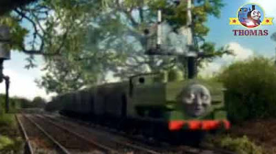 Thomas and friends Duck the great western engine was not happy the trucks playing silly train games