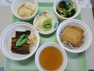 写真:パルス入院1クール5日目の夕食