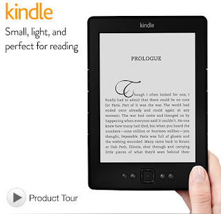 "Original Amazon Kindle 6"" E Ink Display 2GB,Wi-Fi, 6in-Black 5 th Gen"