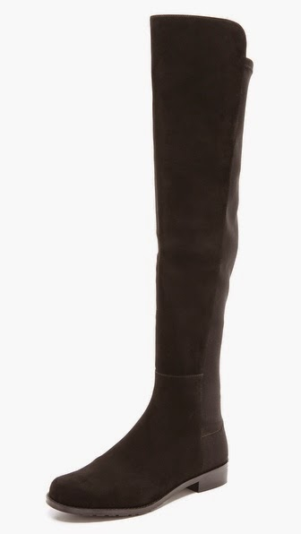 5050 stretch suede boots by Stuart Weitzman