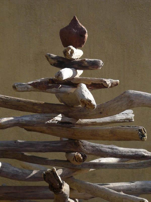 detalle copa arbol de navidad madera