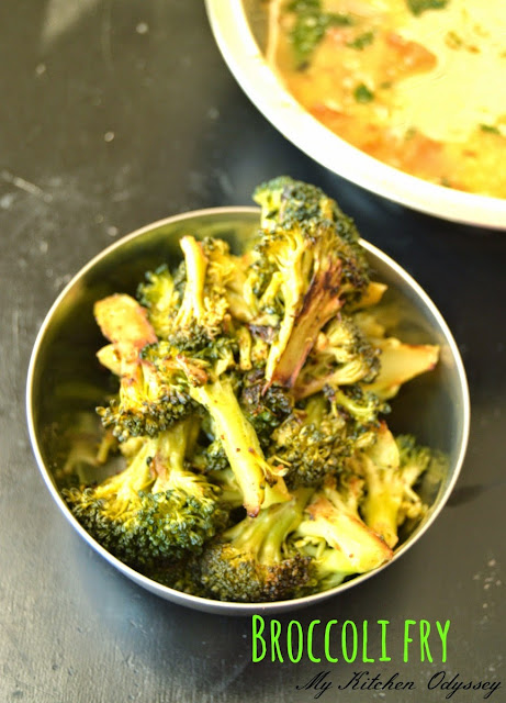 broccoli pepper fry