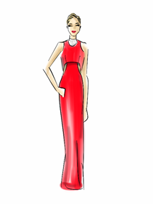 Jennifer Lawrence Dress Illustration