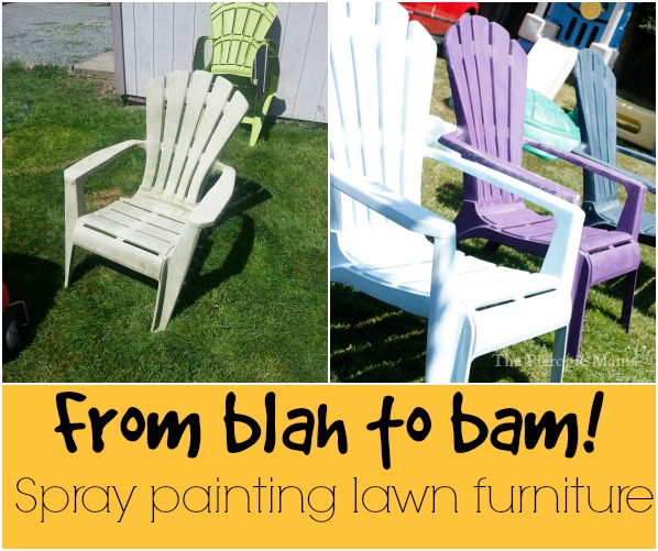 the pierogie mama spray painting lawn furniture and relaxing with