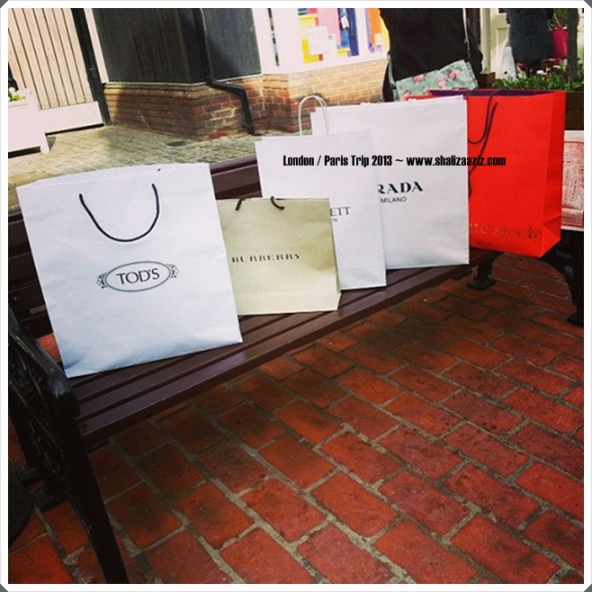 Tod, Burberry, Prada, Bicester Village, London, Shopping