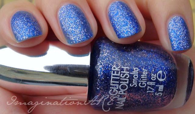 pupa glitter 824 blue swatches smalto nail polish lacquer unghie