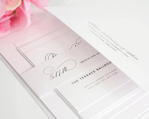 Simple Elegant Wedding Invitations 025 - Simple Elegant Wedding Invitations