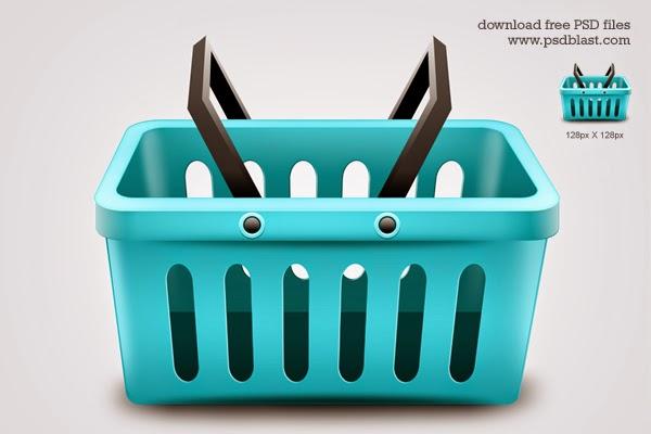 Shopping Basket Icon PSD