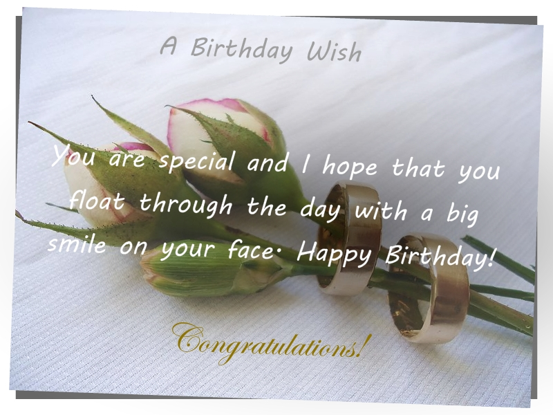 Wishes And Quotes A Birthday Card With Three Roses