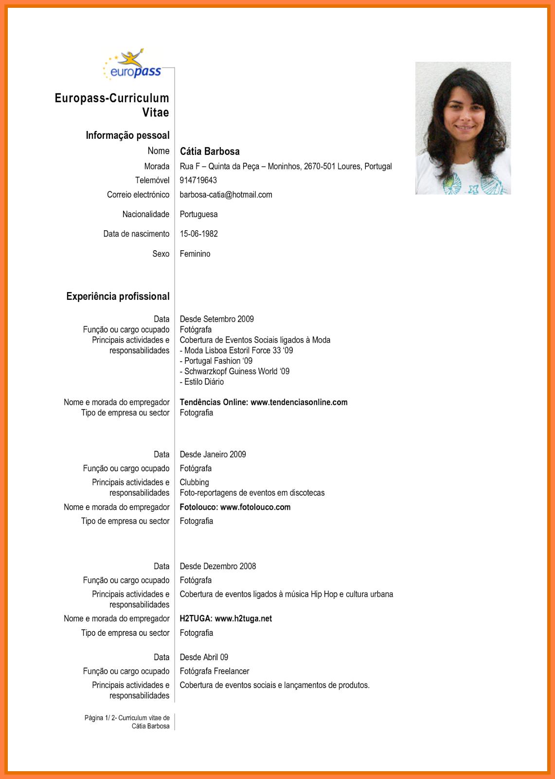 Curriculum Vitae Download Basico