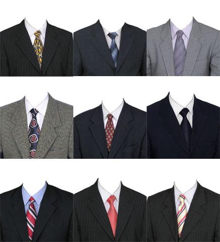 Plantillas de trajes de hombres para photoshop