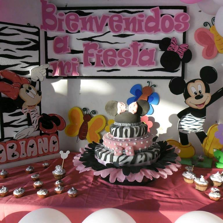 MICKEY Y MINNIE  ANIMAL PRINT