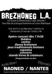 Affiche Brezhoneg L.A. première édition de la fête de la langue bretonne en Loire Atlantique