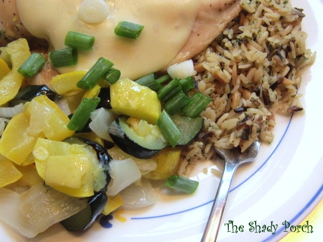 Chicken Provolone - Easy Chicken Dinner recipe with wild rice & vegetables