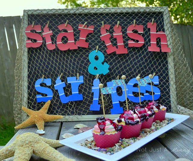 starfish and stripes 4th of july cupcakes