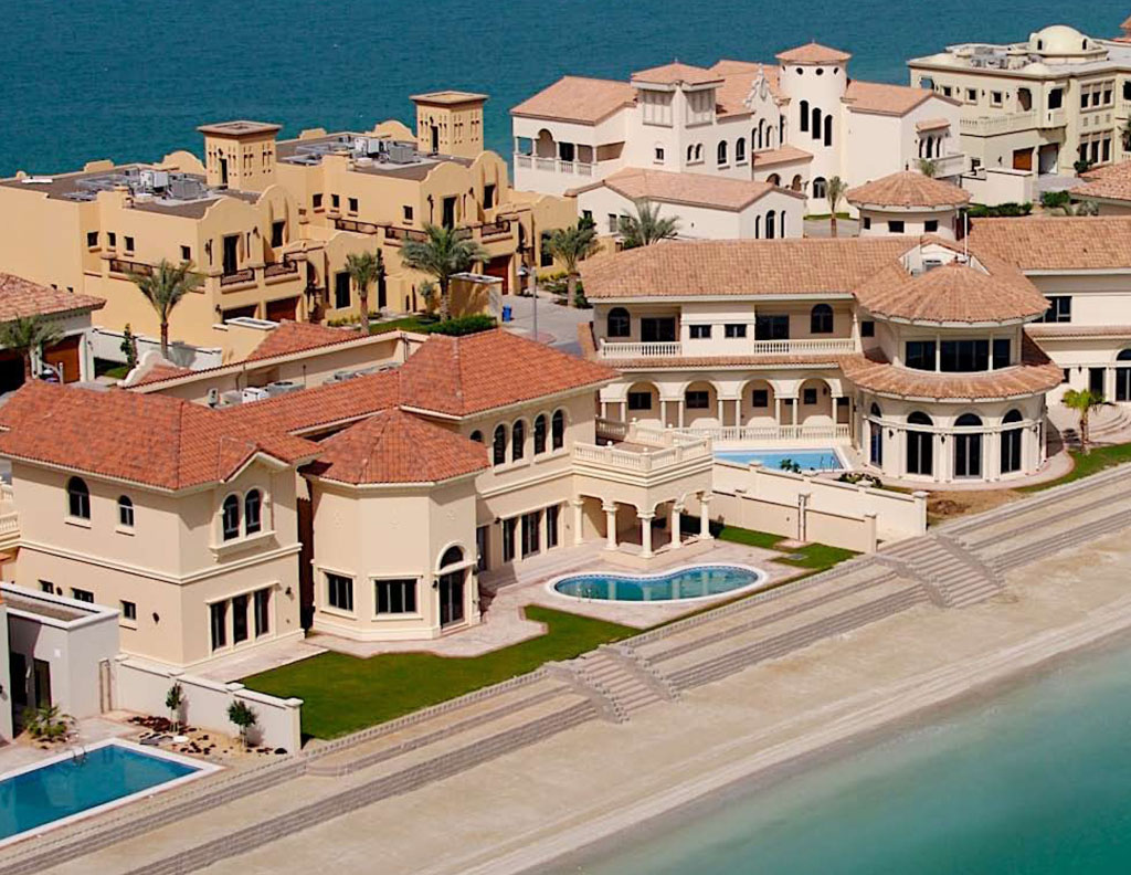 World most popular places palm island dubai Beautiful houses in dubai pictures