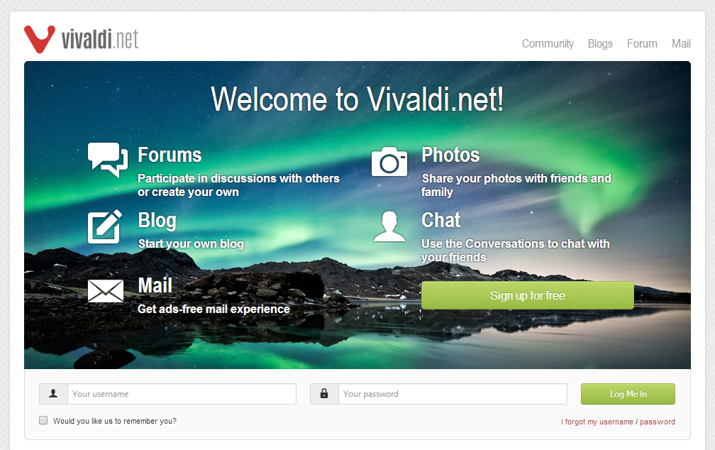 Vivaldi.net - Community Site And Email Service
