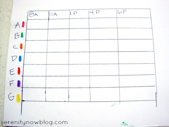 How to Make a Sunlight Chart for Garden Planning, from Serenity Now