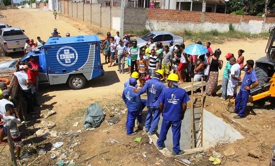 Adolescente de 15 anos morre sugado por tubulação de adutora na Bahia (Foto: Raimundo Mascarenhas/Calila Notícias)