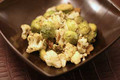 cauliflower and Brussels sprouts