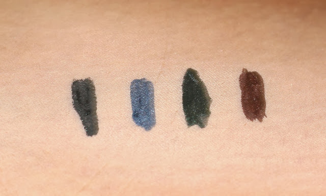 Elle 18 Color Pop Eye Liners - All Four Shades Swaches