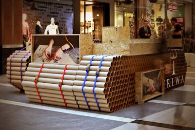 Triwa - Tubos, caixas e cinta em projeto de loja