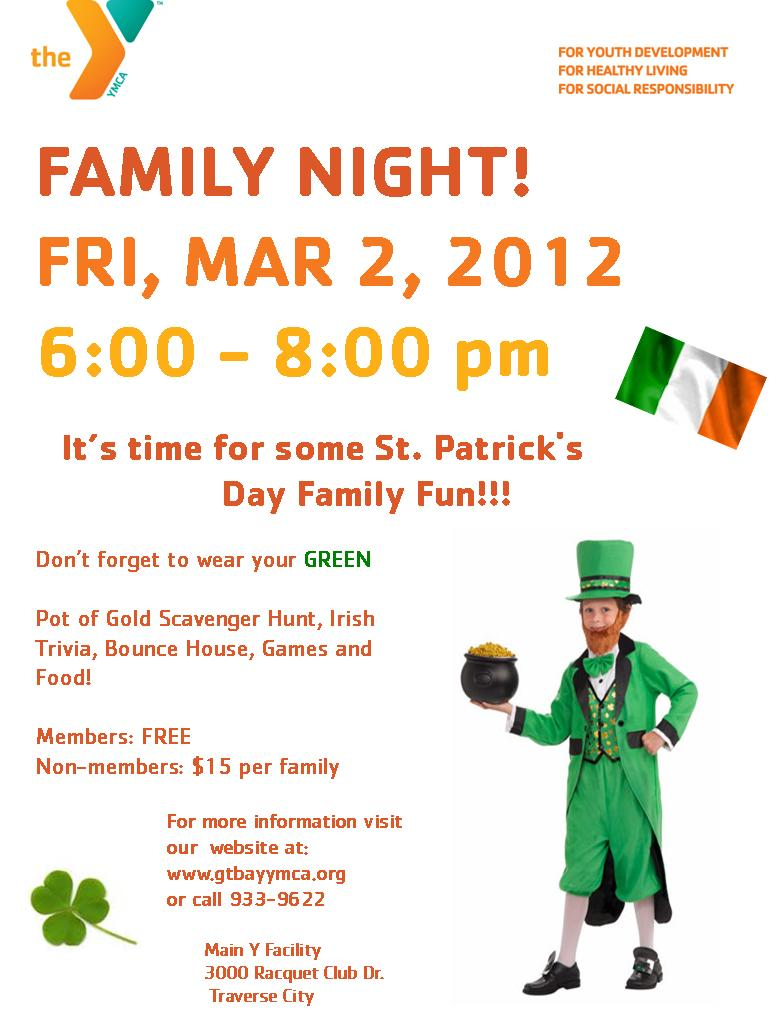 Family Night Flyer Template