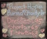 Project - Hope Burma Charity Drive