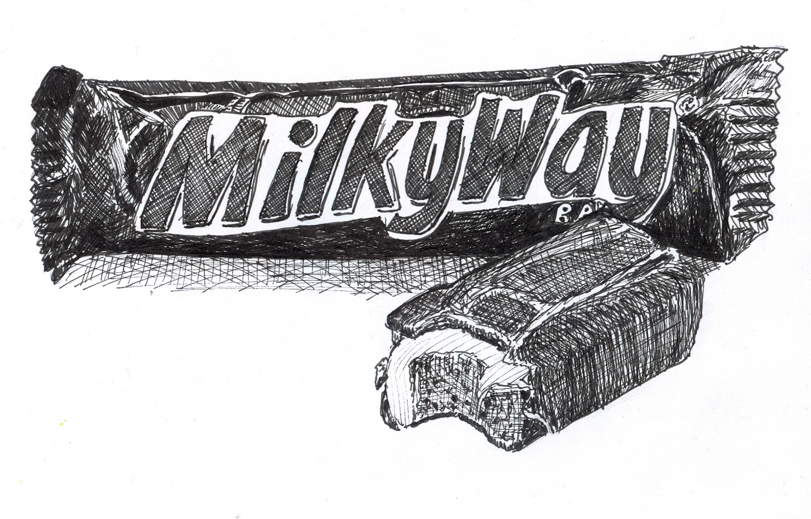 Uncategorized How To Draw Candy Bars anas strictly sketchbook 642 things to draw 36 the milky way a candy bar pen and ink by