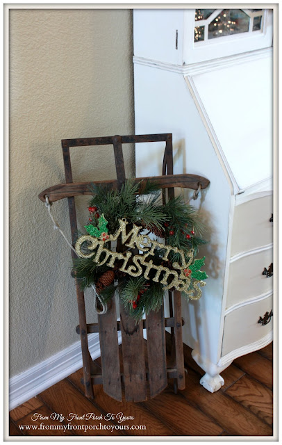Vintage Sled-Farmhouse Christmas-A Merry little Christmas- From My Front Porch To Yours