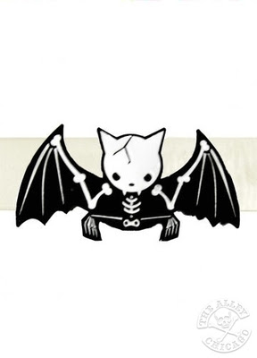 Tulang Kerangka Kelelawar Lucu Kartun (Cartoon Funny Bat Skeleton)