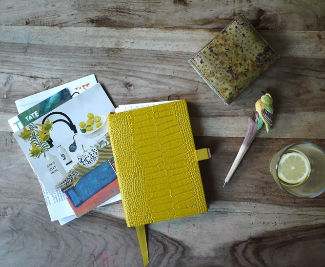 New yellow smythson diary - by Alexis on somethingimade.co.uk