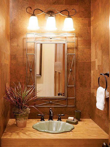 Wall Lights For Shower Room : House Designs: Half baths decorating ideas