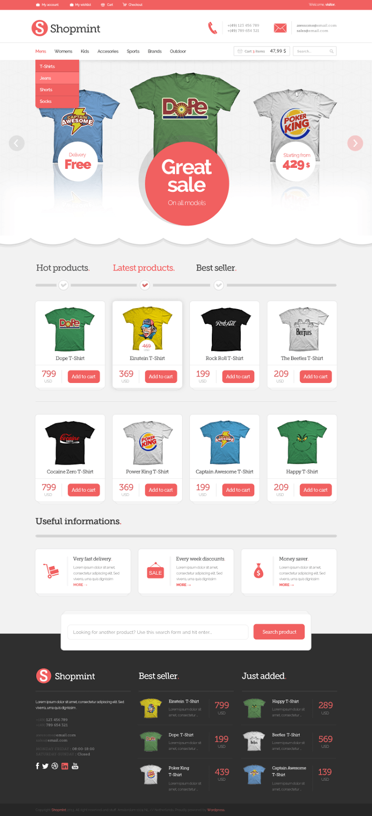 Shopmint Ecommerce PSD Template