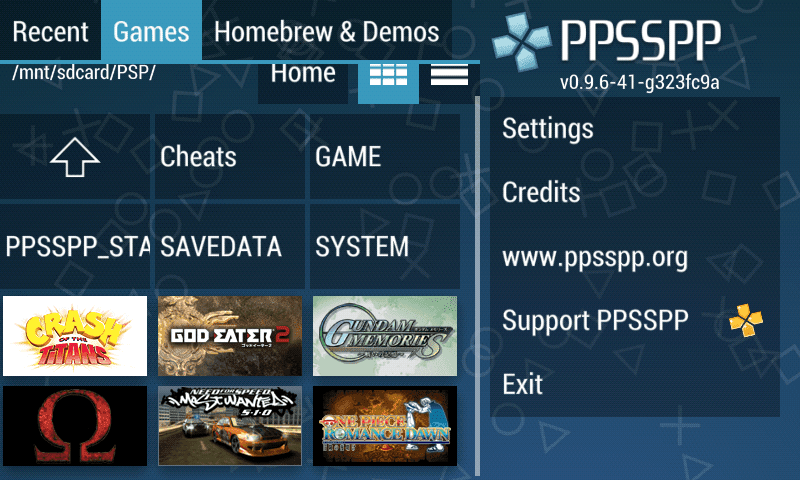 PSP Emulator PPSSPP Android