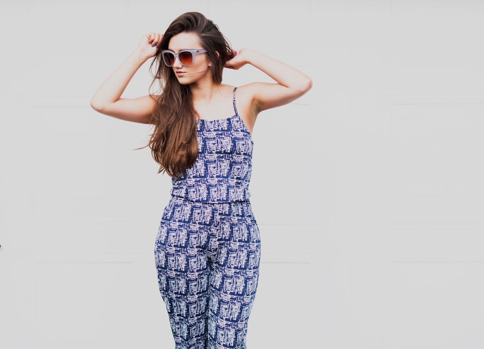 Blue Vanilla Jumpsuit Summer Casual Outfit