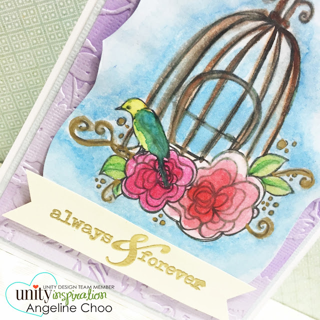 UnityStampCompany: KOTM Monday with Angeline #unitystampco #scrappyscrappy #kotm #stamp #card