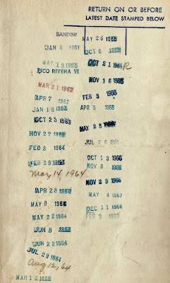 library book check out return dates 1960s