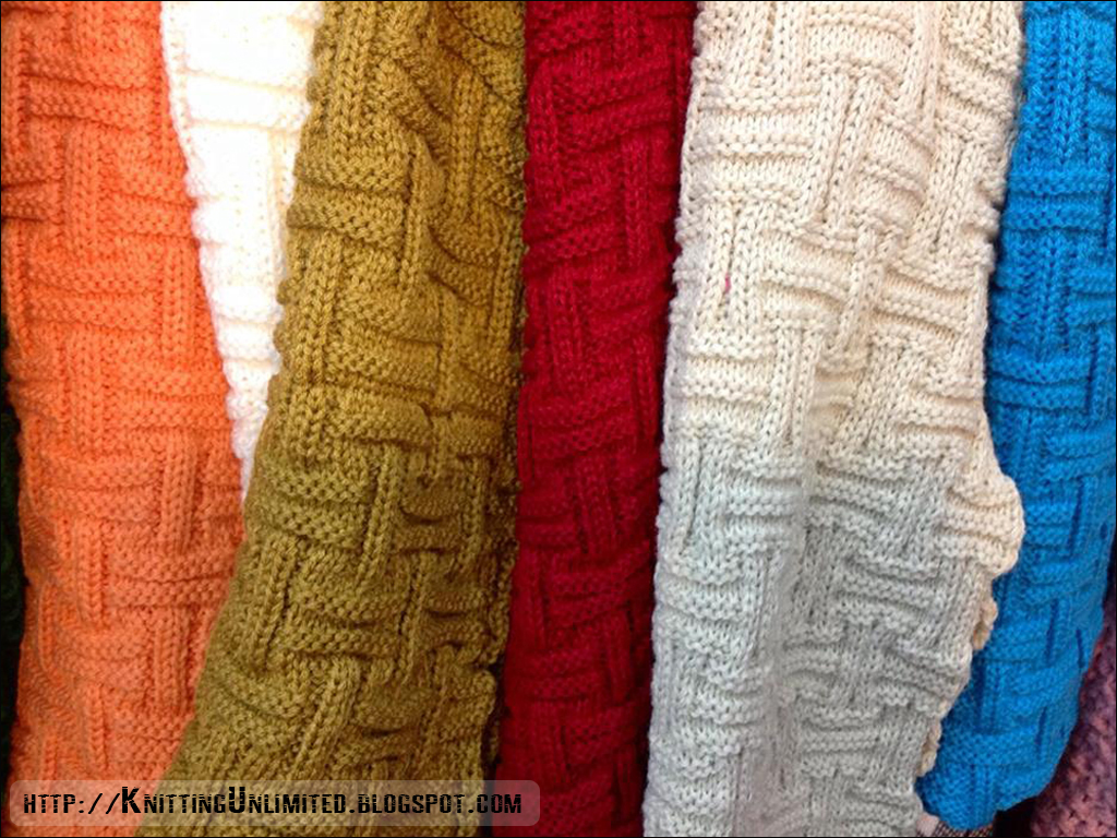 Basketweave will be a nice scarf knitting in winter while keeping you warm and comfortable in cold weather.