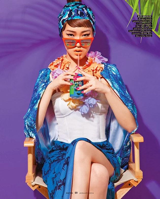 Magazine Photoshoot : Kim Haily Photoshot For Rxandy Capinpin Metro Magazine January 2014 Issue