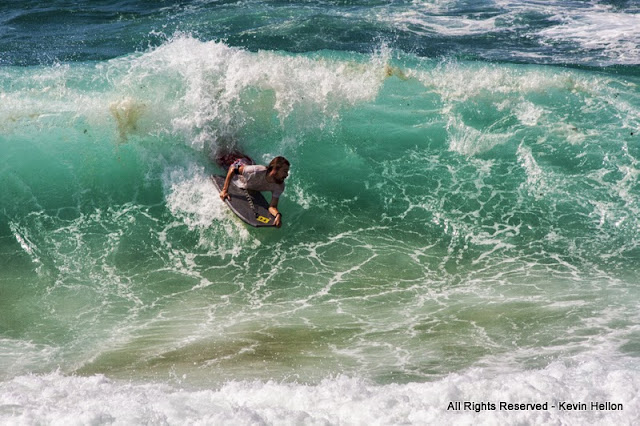 Surfing the rip at Tamarama, Eastern Suburbs, Sydney, Australia