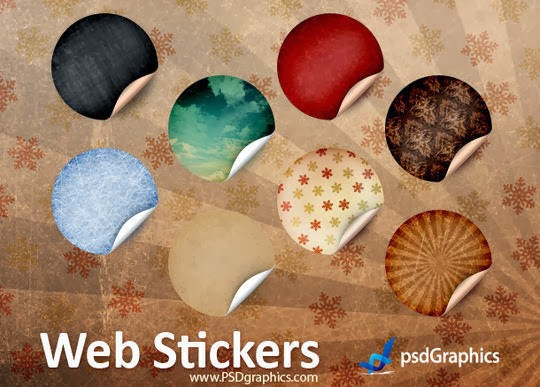 Round Retro Stickers