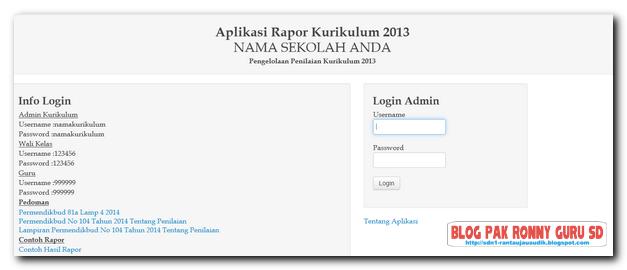 Download Aplikasi Rapor Kurikulum 2013 berdasarkan Permendikbud No 104