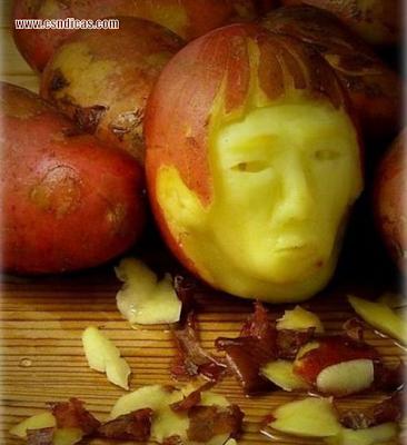 Imagens de Artes Criativas feitas com alimentos