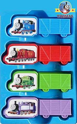 Four kids board game Thomas train and Friends railway characters Rosie James and Percy tank engine
